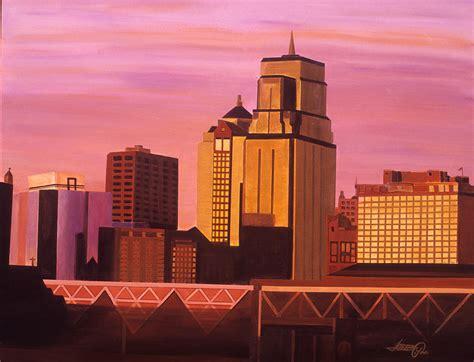 kansas city skyline by joeray kelley