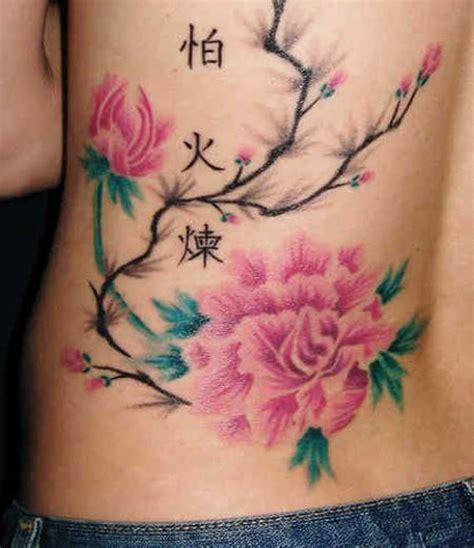artistic  striking flower tattoos designs