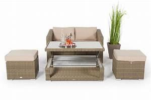 Rattan Gartenmöbel Lagerverkauf : rattan lounge mit h henverstellbarem rattan tisch ~ Buech-reservation.com Haus und Dekorationen