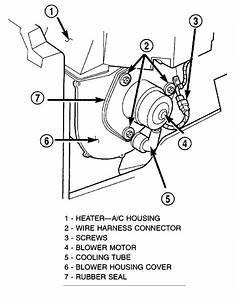 Where Is The Blower Motor Located On A 2001 Dodge Ram Van 3500