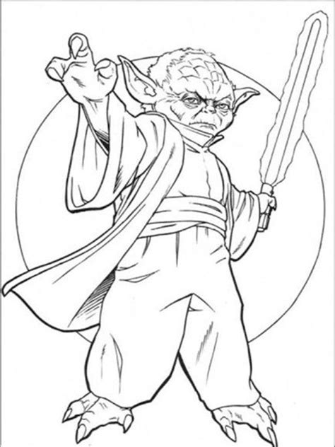 star wars yoda coloring pages  printable star wars