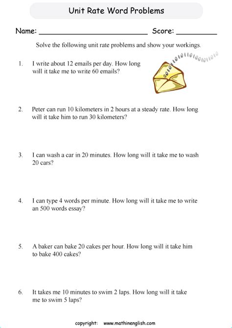 read  rate  ratio word problems  calculate