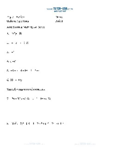 worksheet order of operations grouping symbols