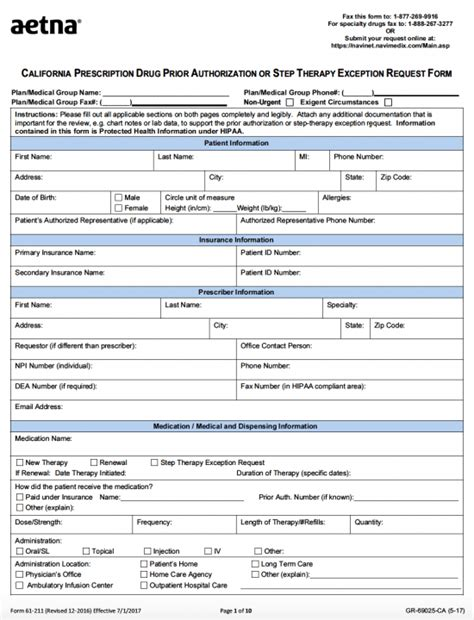 aetna coventry prior auth form nice prior authorization form photos gt gt fillable online