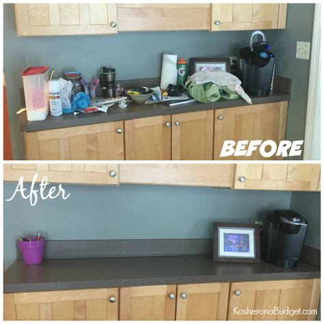 31 Days Of Decluttering, Day Nine A Kitchen Counter (less