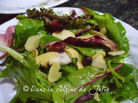 la cuisine de julie dans la cuisine de julie salade verte à la grenade