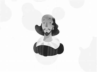 Shakespeare William Animation Cartoon Character Mark Dribbble