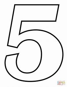 Number 5 coloring page | Free Printable Coloring Pages