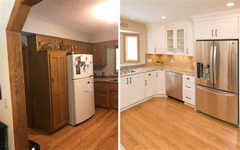 updating oak cabinets doors floors trim living  oak   spaces remodeling contractor