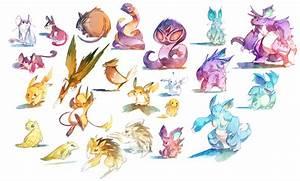 Watercolor Pokemon 019 034