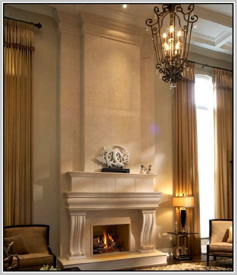 Hood Lamp by Cast Stone Fireplace Surround Home Design Ideas