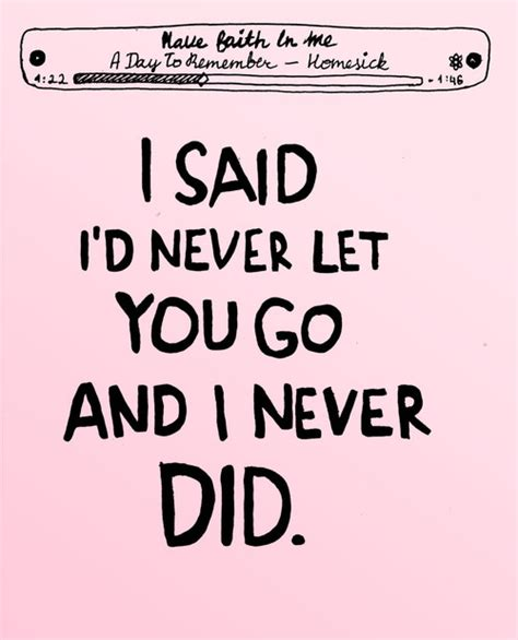Never Let You Go Quotes Tumblr