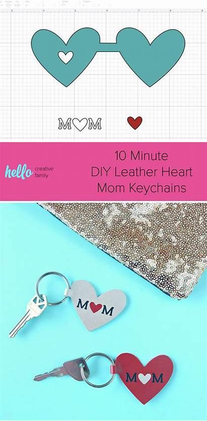 Cricut Leather Heart Keychain Diy Mom Keychains