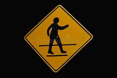 Crosswalk Yellow Sign Background
