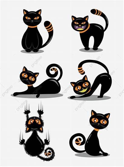 Cat Cartoon Funny Halloween Chat Noir Element