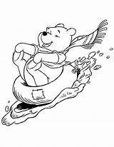 Coloring Pooh Winter Winnie Disney Printable Sledding Colouring January Sheets Bird Watching Cliparts Bear Clipart Adult Theme Colour Animated Snow sketch template