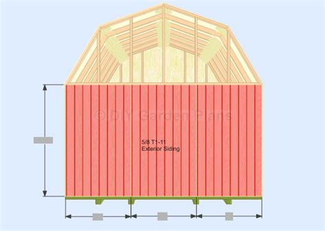 10x12 gambrel shed plans garden must see section sheds