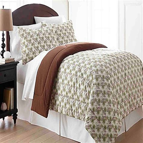flannel comforter sets micro flannel 174 comforter set in pinecone bed bath beyond