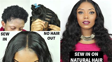 Diy How To Do Full Sew In Weave No Leave