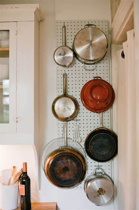 pans pots pegboard kitchen storage pan clever organization wall using idea holding fancy hanging pantry baking discover empty spaces nice