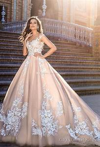 blush ball gown wedding dresses 2017 crystal design bridal With crystal design wedding dresses price