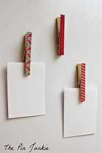 Fil Accroche Photo : magnets porte m mo avec pinces linge et ruban adh sif ~ Premium-room.com Idées de Décoration