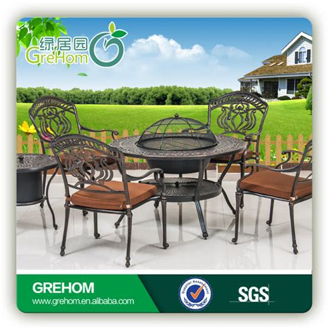 cast aluminum outdoor furniture with bbq grill buy