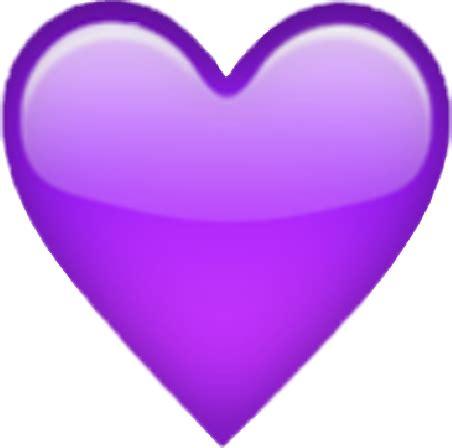 iphone emoji sticker purple heart followme