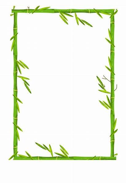 Bamboo Border Clipart Frame Borders Clip Splatter