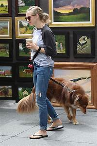 Amanda Seyfried - Walking Her Dog in New York City 9/5/2016