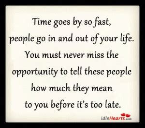Life Going Fast Quotes