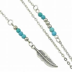 Idée Cadeau Femme Pas Cher : sautoir plume argent id e cadeau femme bijoux fantaisie ~ Dallasstarsshop.com Idées de Décoration
