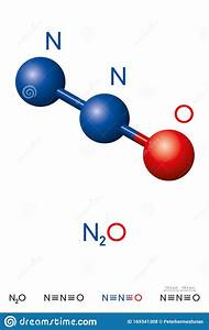 Nitrous Oxide  N2o  Laughing Gas  Molecule Model And