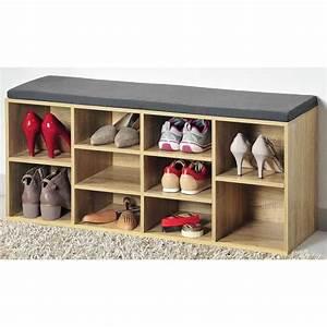 Banc Range Chaussures : banc de rangement chaussure achat vente banc de rangement chaussure pas cher cdiscount ~ Teatrodelosmanantiales.com Idées de Décoration