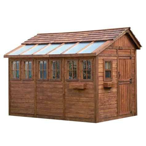 shop outdoor living today saltbox cedar storage shed