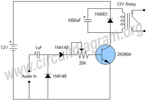 Audio Activated Relay Switch Circuit Diagram