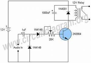 audio activated relay switch circuit diagram With water activated relay