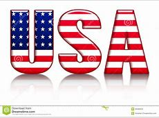 USA Letters, Word With Flag Background Stock Illustration
