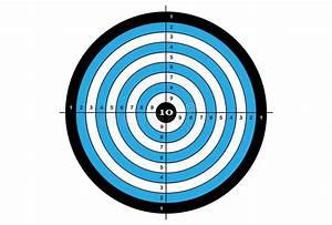 Target Shooting  Vector  Target In Blue Color Stock Vector