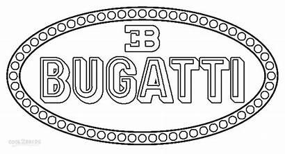 Coloring Pages Bugatti Logos Symbol Printable Lamborghini