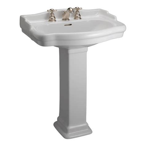 Menards White Pedestal Sink barclay stanford 600 pedestal sink 4 quot centerset at menards 174