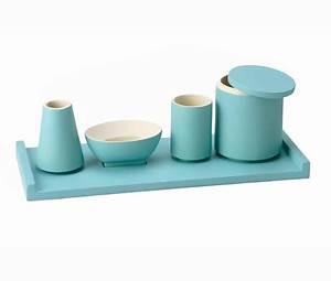 Accessoire Salle De Bain Bleu : accessoires salle de bain bleu turquoise ~ Teatrodelosmanantiales.com Idées de Décoration
