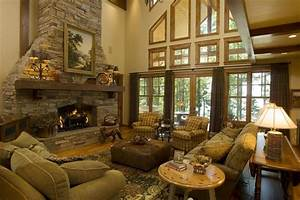 Great Room Rustic Living Room Minneapolis By