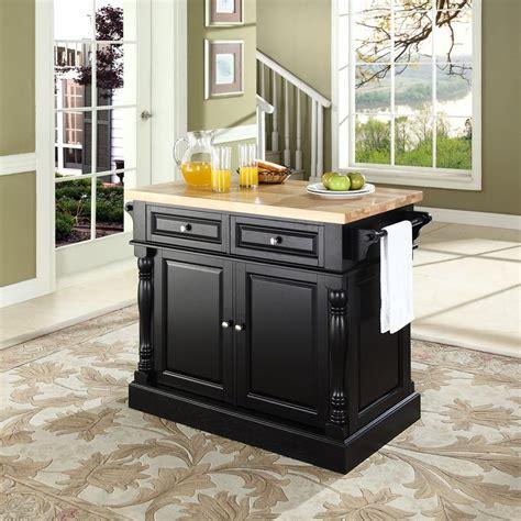 Shop Crosley Furniture Black Craftsman Kitchen Island At