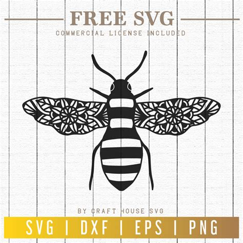 Click to learn more about how you can become a tattoo artist. FREE Bee Mandala SVG   FB86 - Craft House SVG
