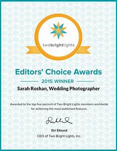 2015 Editor's Choice Awards   Two Bright Lights