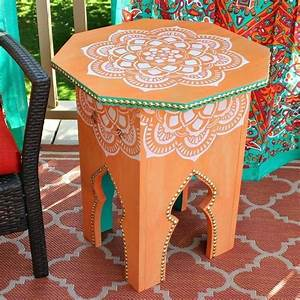 Moroccan, Side, Tables, Diy, U00b7, How, To, Make, A, Side, Table, U00b7, Home, Diy, On, Cut, Out, Keep