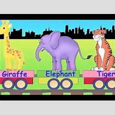 Learn Wild Animal Train  Learning Zoo Animals Video For Kids Youtube