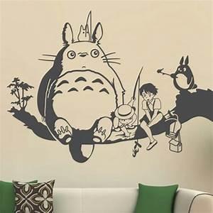 2015 free shipping creative new diy wall art miyazaki With totoro wall decal