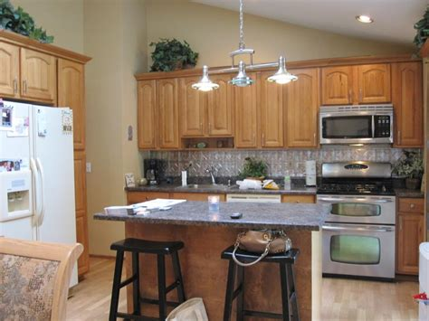 kitchen lighting vaulted ceiling cathedral ceiling to maximize openess with sky lights for 5374